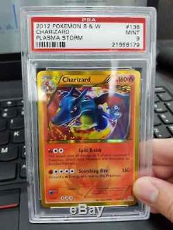 Psa 9 Charizard 136/135 Psa Mint Carte Pokemon Ultra Rare (tempête Plasma)