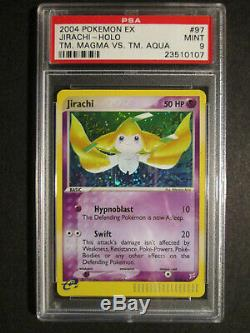 Psa-9 Complet Pokemon 7-card Ex Équipe Magma Vs Aqua Set / 95 + Deux Secrète Rare Holo