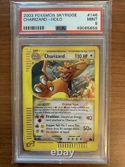 Psa 9 Cristal Charizard Holo Skyridge 146/144 Secrète Rare Carte Pokemon