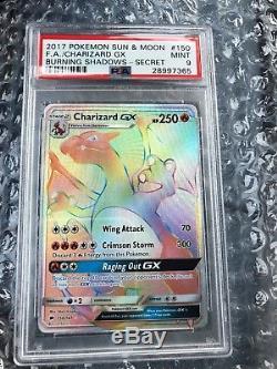 Psa 9 Mint Art Complet Charizard Gx 150/147 S & M Misprint Hyper Rare Pokémon Nouveau