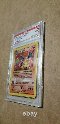 Psa 9 Mint Charizard De Base 1ère Édition Shadowless Holo Carte Pokemon 4/102