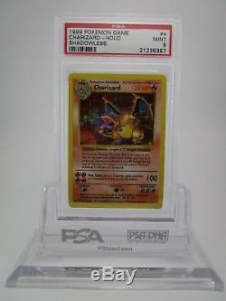 Psa 9 Mint Ensemble Base Charizard Holowless Holo Rare Carte Pokemon 4/102 # 2 B43