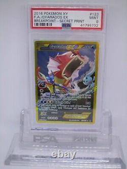Psa 9 Mint Gyarados Ex Xy Breakpoint Secret Rare Pokemon Card 123/122 M36