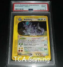 Psa 9 Mint Nidoking 150/147 Aquapolis Crystal Holo Rare Carte Pokemon