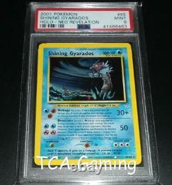 Psa 9 Mint Shining Gyarados 65/64 Neo Revelation Holo Rare Pokemon Card