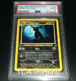 Psa 9 Mint Umbreon 13/75 Neo Discovery Holo Rare Pokemon Card