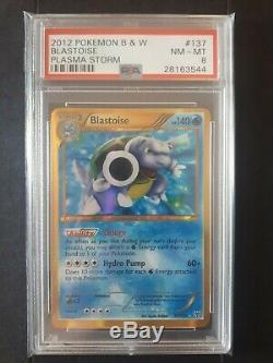 Psa Set Charizard & Blastoise Holo Secrète Rare Cartes Pokemon Plasma Tempête
