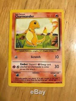 Rare 1995 Charmander Basic Pokemon Carte
