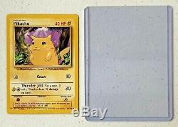 Rare 1999 Pikachu Carte Pokémon 58/102 Fond Violet Assistants 40 HP Nintendo