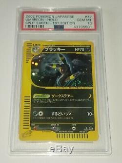 Rare Édition Umbreon Carte Pokémon Holo Psa 10 Gem Mint De Split Terre 1er Ed
