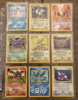 Rare Ensemble Complet De Fossiles De Pokemon Proche De L'état Neuf 62/62 Cartes Originales