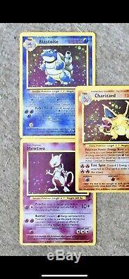Rare Pokemon Card Classic 1999 Modèle Mew Deux Charzard Venusaur Blastoide Holo
