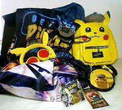 Rare Set 2019 Pokemon Detective Pikachu Sac À Dos Sac À Bandoulière Jeu De Carte Throw