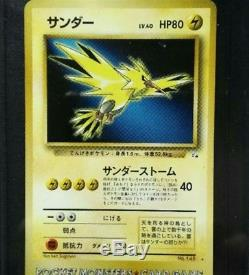 Rare Zapdos Téléphone Carte Poche Monstre Carte Japon F / S