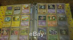 Reliure De Lot De Cartes Pokemon Avec Holo Rare Art Complet Ex 1ère Erreur De Base Ed