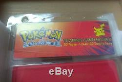 Reliure Vintage Pokemon Pikachu Rouge Rare Porte Cartes Mini Monstres Vintage