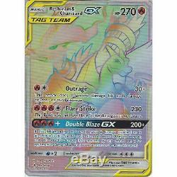 Reshiram & Charizard Gx Tag Team 217/214 Rare Rainbow Card Carte Pokemon Non Rompue