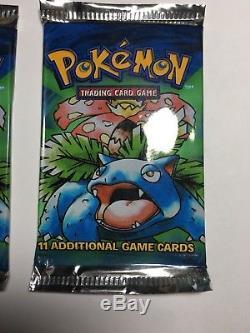 Scellé Rare 2 Original Venusaur Non-ouvert Base Booster Pokemon Card Pack 1999