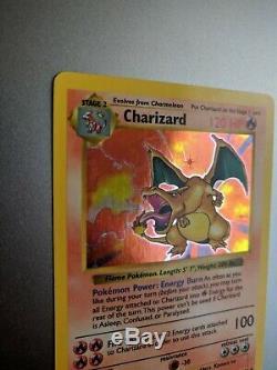 Shadowless Dracaufeu 4/102 Holo Feuille De Base Rare Set Carte Pokemon