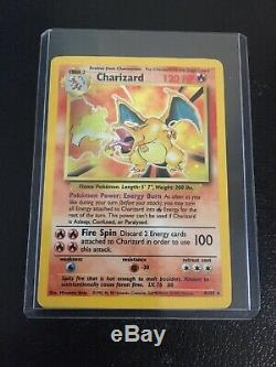 Shadowless Holographiques De Base Charizard Carte Pokémon (4/102) Rare Holo