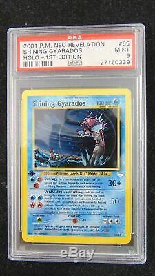 Shining Gyarados 65/64 Neo Revelation 1ère Édition Psa 9 Menthe Holo Carte Pokémon Rare