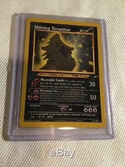 Shining Tyranitar Holo Secret Carte Pokémon Rare Neo Destiny 113/105 Nm + / Mint