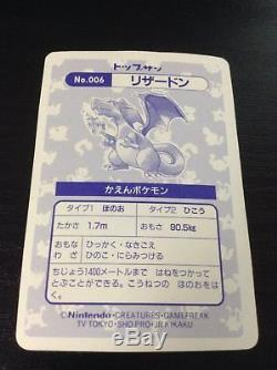Topsun Charizard # 006 Carte Pokémon Holo 1997 Japonais
