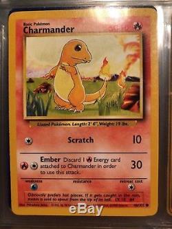 Très Rare Carte Originale De Charmander 1995 1995 46/102 Neuf