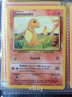 Très Rare Carte Originale De Charmander 1995 De 1995 46/102 (2)
