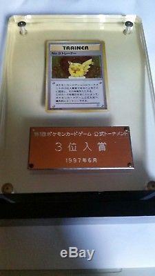 Trophée Pokemon 1997 (!) Trophée Pikachu Extrêmement Rare