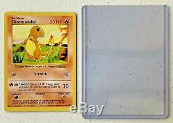 Ultra Rare! Début 1995 1999 Shadowless Charmander Carte Pokémon D'investissement