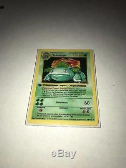 Venusaur 1ère Édition Shadowles Holo Base De Jeu Rare Pokemon Card 15/102