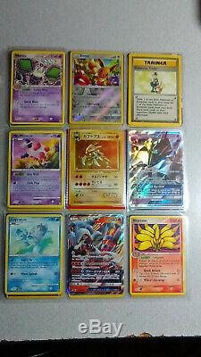 Vintage & New Pokemon Binder Carte 300+ Collection Lot Chardizard & Holos Rares