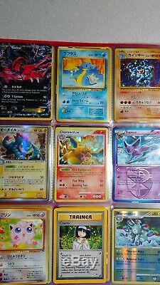 Vintage & New Pokemon Binder Collection De Cartes 108 Lot Chardizard Rares & Holos