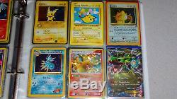 Vintage & New Pokemon Binder Collection De Cartes 500+ Lot Chardizard Rares & Holos