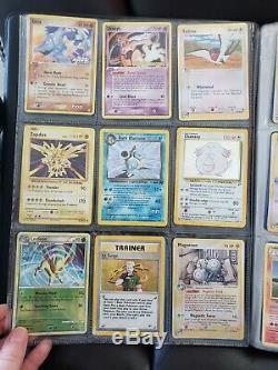 Vintage / Rarewotc Lot De Cartables Pour Cartes Pokemon! Neo, Série E, Fusée, Niv X, Base