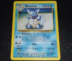 Wartortle 42/102 Base Set Erreur Evolution Boîte Misprint Pokemon Card Lp