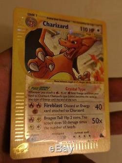 X1 Pokemon Crystal Carte Charizard 146/144 Secret Rare Holo Foil 2003 Skyridge Nm