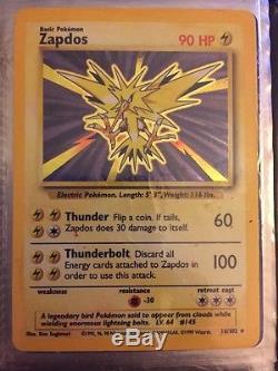 Zapdos Original Carte Pokémon Rare